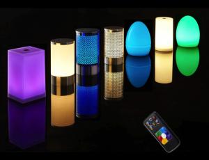 Lampe sans fil RGB rechargeable télécommande - nombreux choix - prix attractifs - pour toutes les collectivités